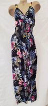 Lange jurk bloemenprint RSL Dames Jurk Maat One Size