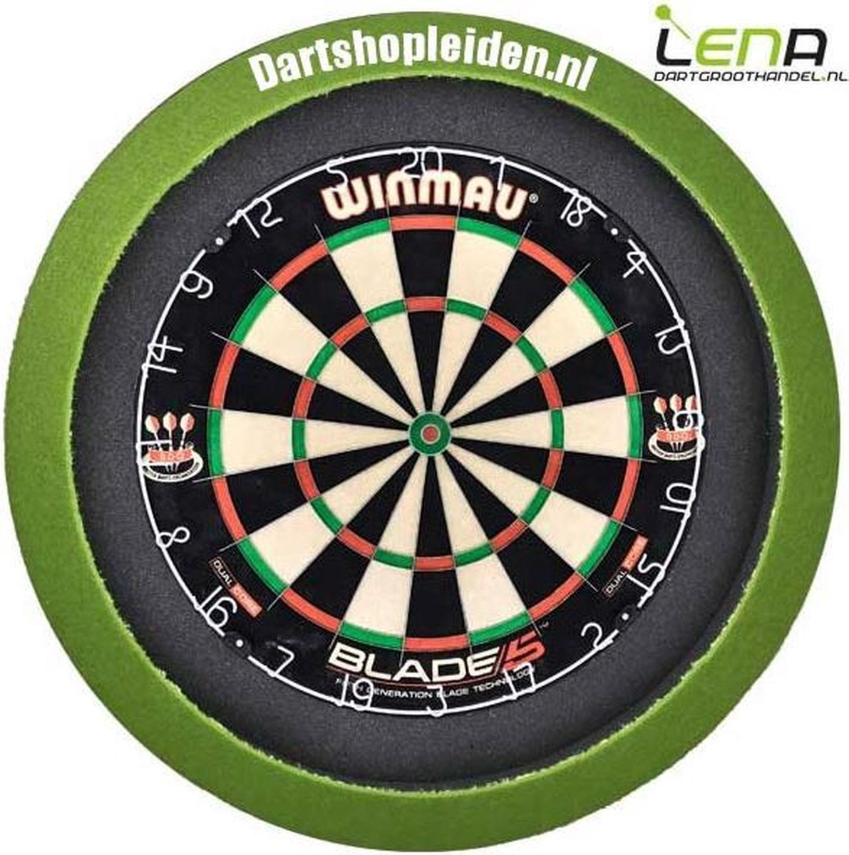 LENA Dartbord Verlichting BASIC (Lime)