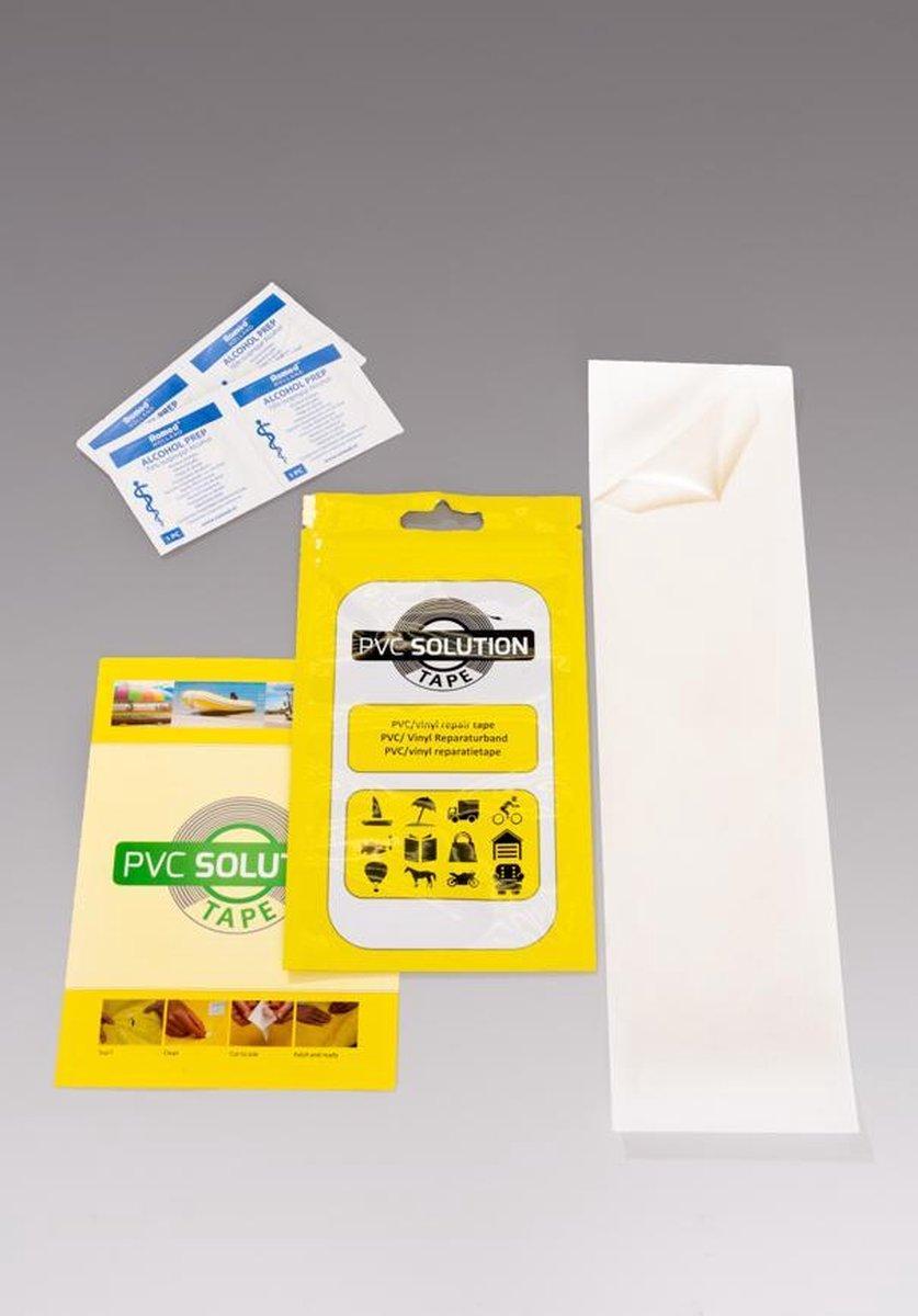 PVC Solution Tape 28x7,6cm, first-aid reparatietape voor springkussens, opblaasbare boten, zwembaden