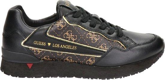 GUESS Genova Heren Sneakers - Bruin-Ocra - Maat 45