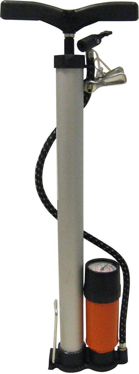 Aluminium fietspomp met meter voor fiets en autoventiel