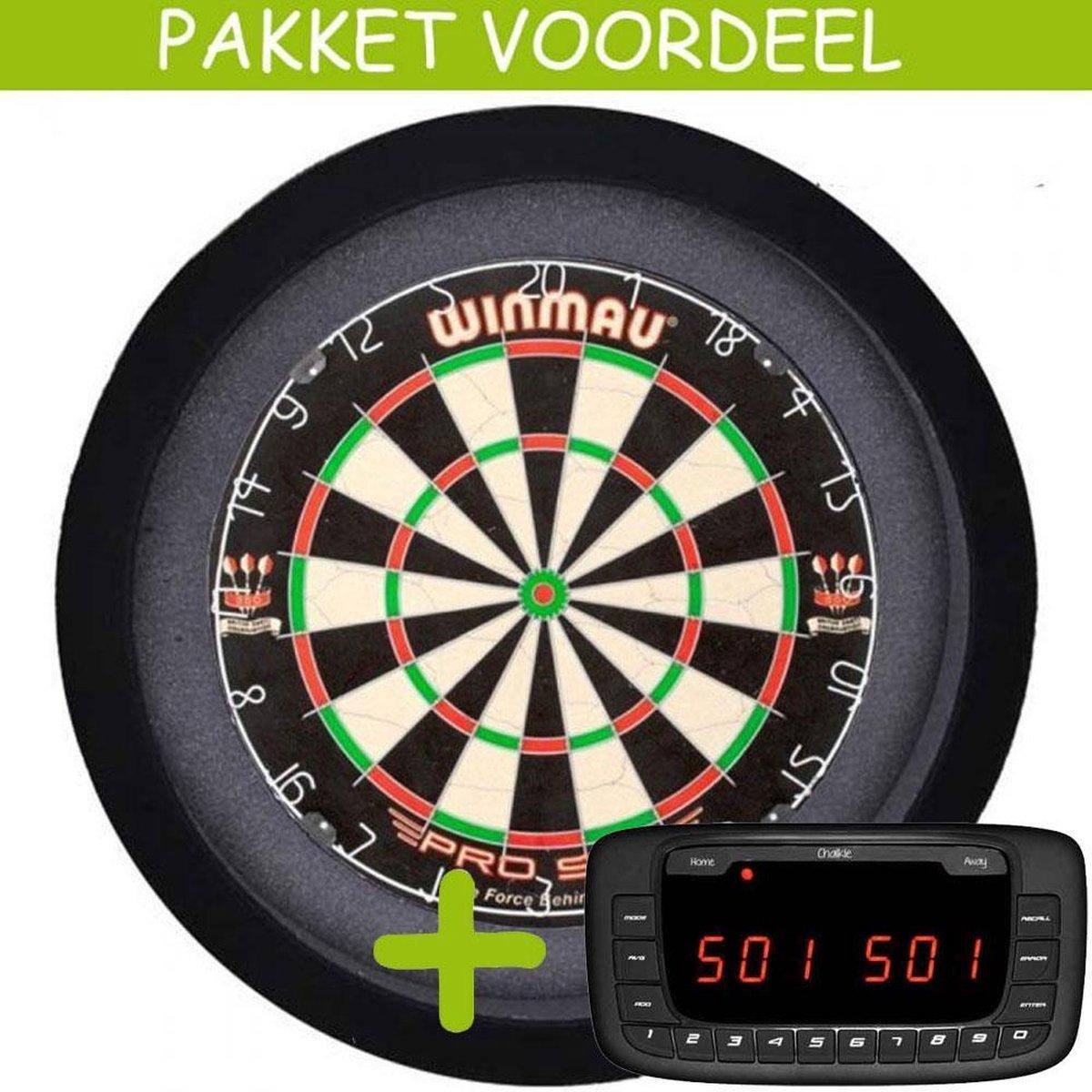 Elektronisch Dart Scorebord VoordeelPakket (Chalkie ) - Pro SFB - Dartbordverlichting Basic (Zwart)