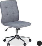 relaxdays bureaustoel grijs - directiestoel hoogte verstelbaar computerstoel ergonomisch grijs
