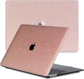 Lunso - cover hoes - MacBook Air 13 inch (2020) - Glitter Rose Goud