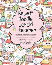 Kawaii doodle wereld tekenen