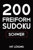 200 Freiform Sudoku Schwer Mit L�sung: Sudoku Puzzle R�tselheft, 9x9, 2 R�stel pro Seite