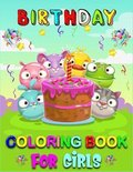 Birthday Coloring Book For Girls