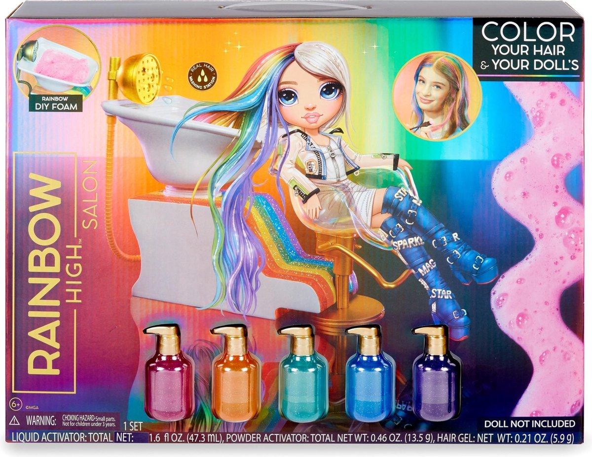 Bol Com Rainbow High Salon Playset Poppenhaarstylingset