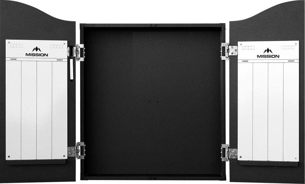 Mission Dartbord Deluxe Cabinet - Plain Black
