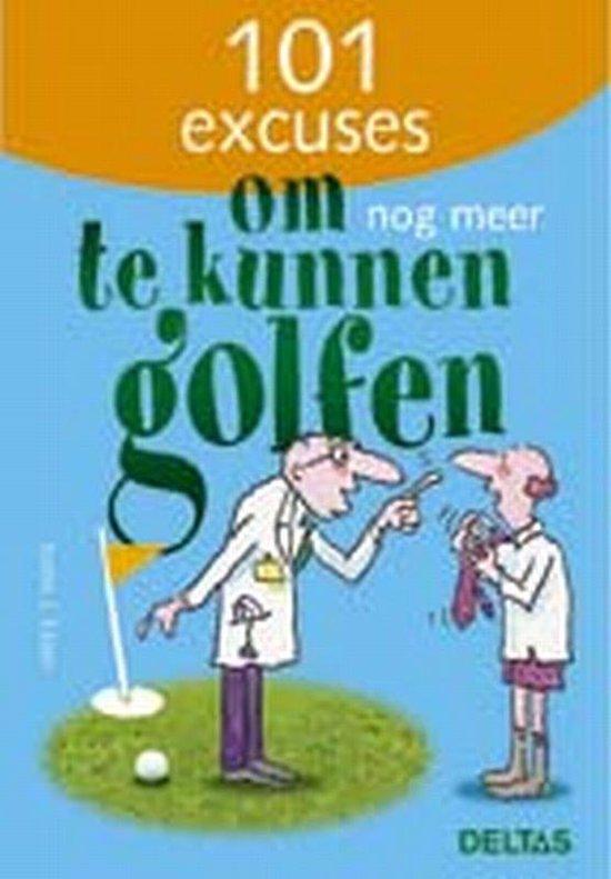 Cover van het boek '101 excuses om nog meer te kunnen golfen' van J. Exner