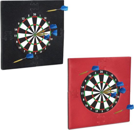 relaxdays dartbord surround ring - beschermrand - beschermring - ring voor dartbord - 45cm rood