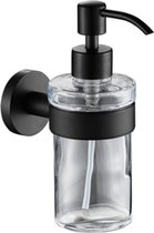 Plieger Vigo zeepdispenser glas met houder zwart