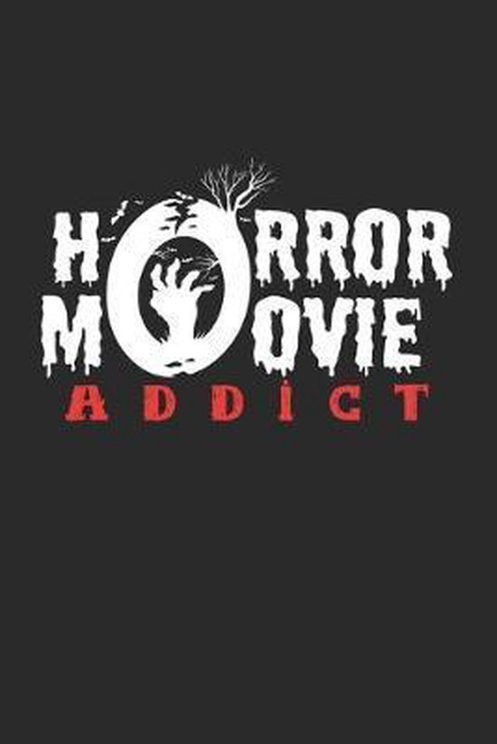 Horror movie addict: 6x9 Movies - dotgrid - dot grid paper - notebook - notes