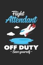 Flight Attendant off duty: 6x9 Flight Attendant - dotgrid - dot grid paper - notebook - notes