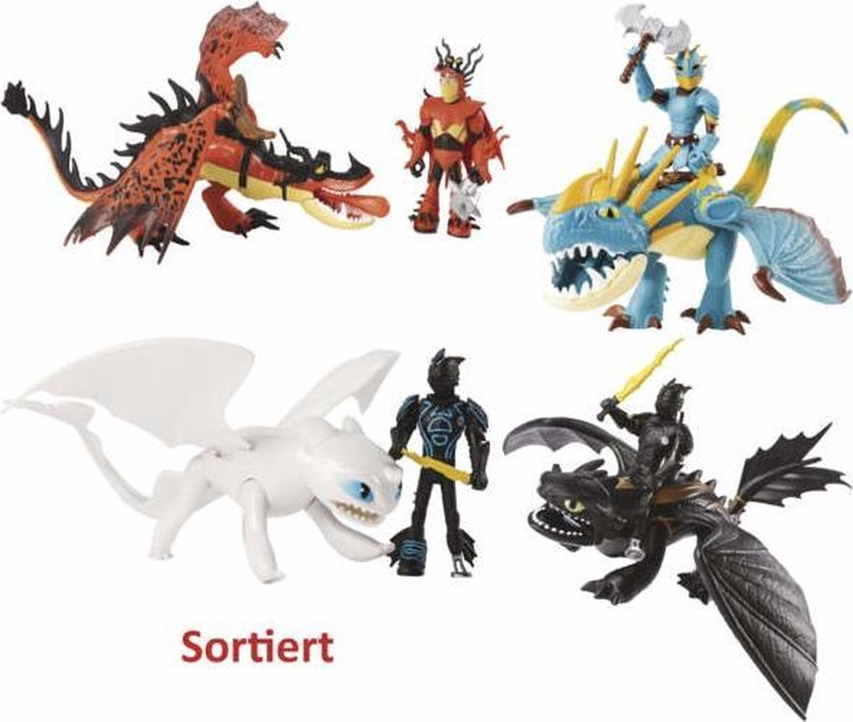 Dragon & Viking Speelfiguur - Assorti