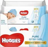 Huggies® Billendoekjes Pure Extra Care, 99% puur water 56 doekjes x 8 verpakkingen