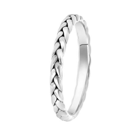 Zilveren ring vlecht Bali Treasures