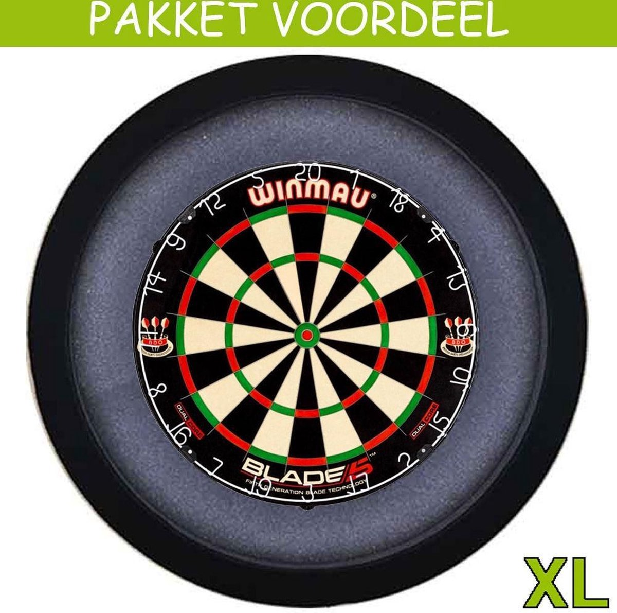 Dartbord Verlichting Voordeelpakket Pro + Dual Core + Dartbordverlichting Basic XL(Zwart)