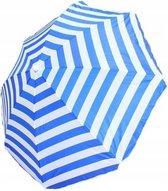 Benson parasol Ø180 cm blauw/wit