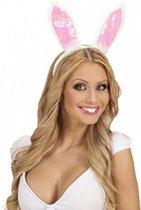 Set van 2x stuks konijnen/Paashaas/Theo en Thea verkleed tanden/tandjes voor volwassenen en kinderen vanaf 8 jaar