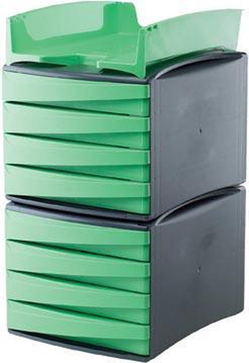 Fellowes Schubladenelement met 4 Schubladen groen