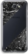 Samsung Galaxy J5 (2017) Prime Transparant Hoesje (Soft) - Zwart marmer