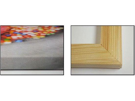Canvas schilderij Uitzicht | Paars, Oranje, Grijs | 120x70cm 1Luik