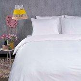 Dekbedovertrek Hotel Satijn - Wit - Presence - Lits-jumeaux 260x220 cm - Katoen-Satijn