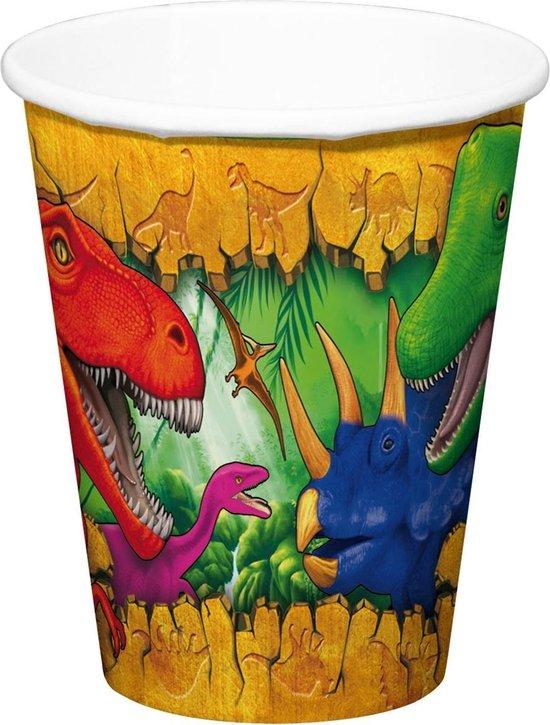Dinosaurus Bekers 6 stuks