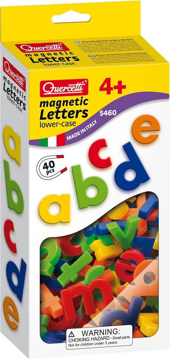Quercetti kleine letters ABC magneten, 40st. - Quercetti