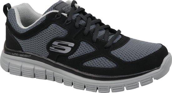 Skechers Burns Agoura 52635-BKGY, Mannen, Zwart, Sneakers, maat: 47,5 EU