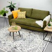Vloerkleed Ambiance - Oriental Wit Grijs 80x150cm