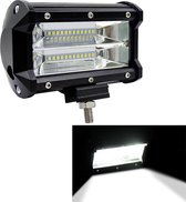 5 inch 72 W 6000 K 3000LM 24 LED Waterdichte IP67 Twee Bar Gemodificeerde Off-road Lights Spotlight Licht Auto Werklampen, DC 9-48 V (Wit Licht)
