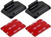 2  GoPro curved mounts + 2 zelfklevende bevestiging Stickers