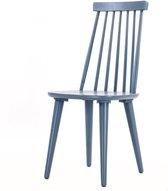 Nordiq Lotta spijlenstoel - Houten eetkamerstoel - Blauw grijs