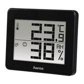 Hama TH-130 Thermo/Hygrometer  - Digitaal - Zwart