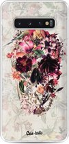Samsung Galaxy S10 hoesje Flower Skull Casetastic Smartphone Hoesje softcover case