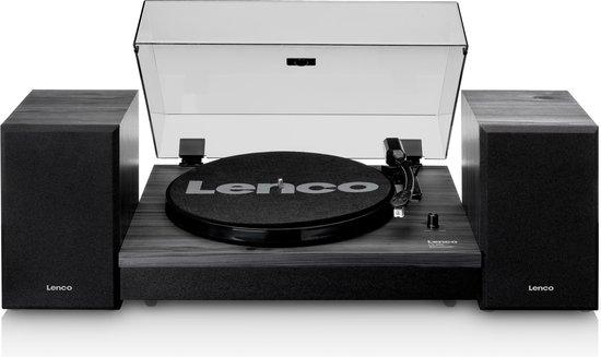 Lenco LS-300BK - Platenspeler met twee speakers en Bluetooth - Zwart