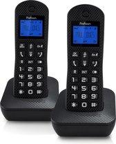Profoon PDX-525ZT DECT Draadloze telefoon - 2 Handposten - Met antwoordapparaat - Zwart
