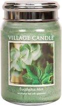 Village Candle Kaars Eucalyptus Mint 10 X 15 Cm Wax Groen