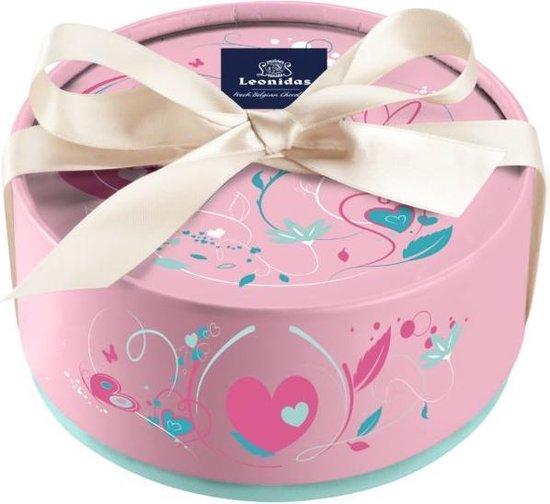 Chocolade Cadeau   Leonidas Bonbons   Luxe Roze Giftbox   Met 24 Leonidas Bonbons