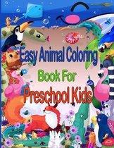 Easy Animal Coloring Book for Preschool Kids