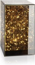 LIFA LIVING Lamphouder van spiegelend glas, 40 LED-lampen, Lichthouder van glas,