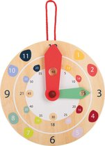 Educatieve houten klok - leer klok kijken! FSC® 100% -gecertificeerd hout