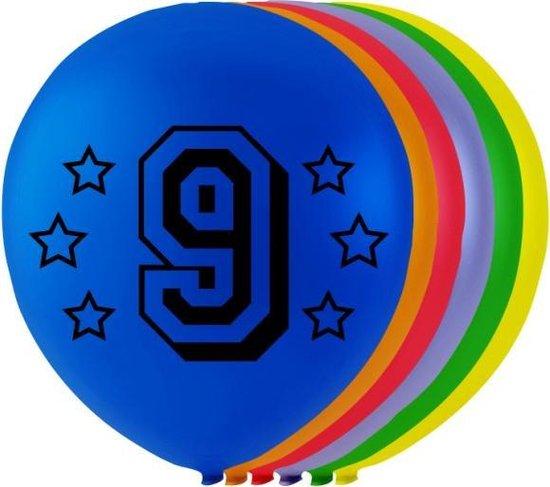 Globos Ballonnen Cijfer 9 Latex 80 Cm 8 Stuks