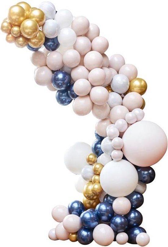 Ballonnenboog Groot Marble, Grey & Chrome Goud Ginger Ray