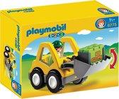 PLAYMOBIL 1.2.3 Graafmachine met werkman - 6775