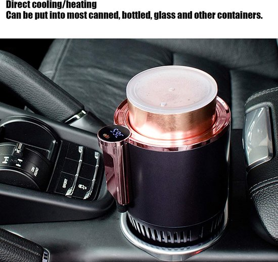 2-In-1 Smart Auto Cup Warmer En Koeler - Elektrische Koffie Warmer - Drank Koeling & Verwarming Mok Met temperatuur Display Voor Auto Reis