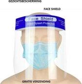 Afbeelding van Spatmasker Gezichtscherm - Beschermkap voor gezicht - Transparant - 1 Stuks