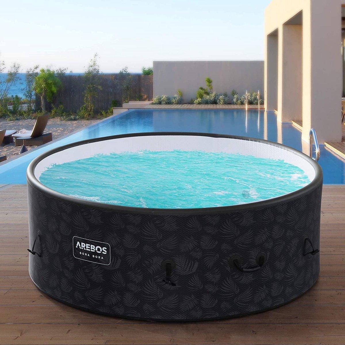 |bubbelbad| jacuzzi | jacuzzi Opblaasbaar | In- & Outdoor | 7 personen | Drop-Stitch | 130 massagejets | met verwarming | 1120 liter | Incl. afdekking | Bubble Spa & Wellness Massage